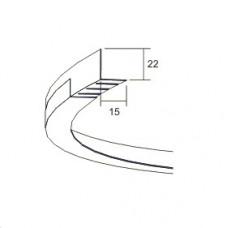 Гибкий пристенный уголок внутренний Connect flexible wall trim 3360, Белый