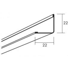 Модульный пристенный уголок Connect Modular wall trim, Матовый черный 01