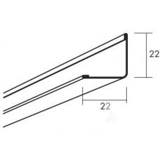 Пристенный уголок Connect 8354, Серый 01 металлик